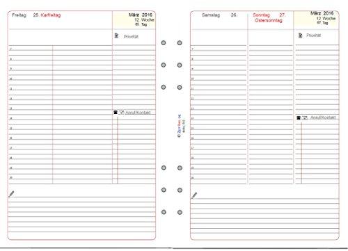 Download Calendrier 2016pour Filofax, A5,1Page par jour, version Duo, Edition standard, zeitino 512–1