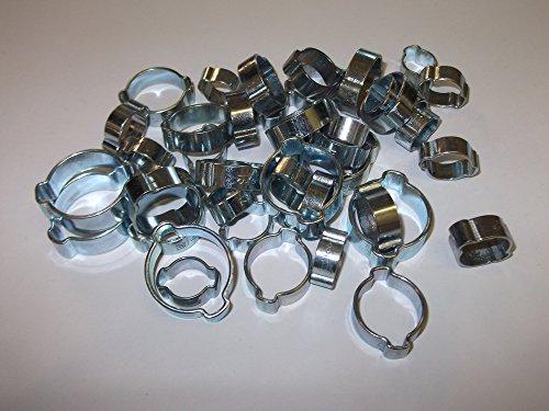 42 Mélange double oreille O Clips 8-11 mm 9-12 mm 11-13 mm 13-15 mm 15-18 mm 17-20 mm 20-23 mm Tuyau Tube Colliers de serrage à essence Air Eau fusible en acier Colliers de serrage 6 de chaque taille
