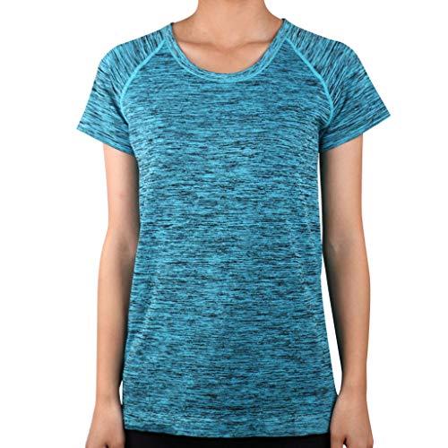 Push Up Frauen Yoga Fitness Kurzarm Rundhals Tshirt Tops Sommer Unterwäsche ()