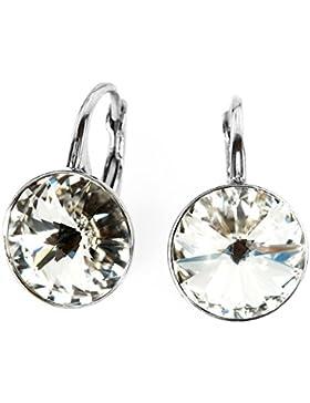 Crystals & Stones *RIVOLI* 14 mm *Crystal* Ohrringe Damen Ohrhänger mit Kristallen von Swarovski Elements