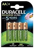 Duracell - Ultra Pilas Recargables AA 2500 mAh, paquete de 4