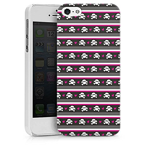 Apple iPhone X Silikon Hülle Case Schutzhülle Skull Pattern Punkte Hard Case weiß