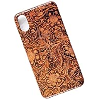Tooled Leather Look. Tasche Cover. Slim Phone Case for iPhone XR.