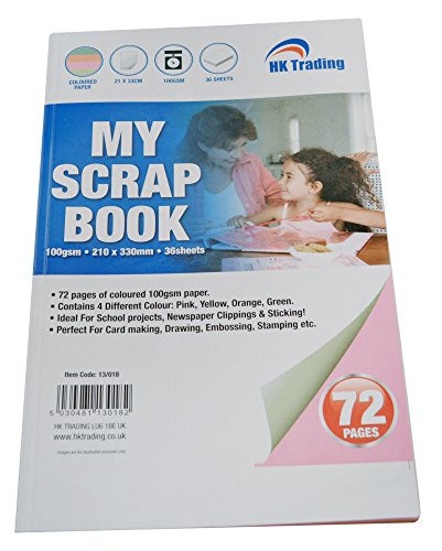 large-coloured-scrap-book-100gsm-72-pages-pink-yellow-orange-green-paper-free-delivery
