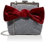 Joe Browns Damen Rockefeller Velvet Bow Bag Schuhbeutel, Grau (Grey), Einheitsgröße