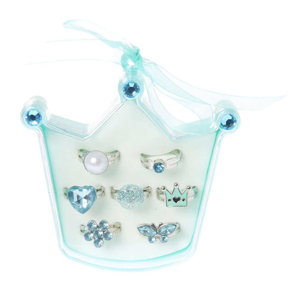 Claire's Club Kids Ring Set – Mint 7 Pack – Turquoise