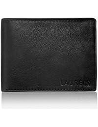 Laurels Emperor II Black Color Genuine Leather Men's Wallet (LW-Emp-II-02)