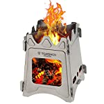 TOMSHOO Camping Stove Lightweight Wood Stove Solidified Alcohol Stove Portable Outdoor Hiking Picnic BBQ