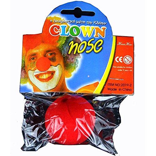 Schaumstoff Nase Clown Party Circus Halloween Kostüm rot verpackt gut 5Stück