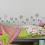Sommer Blumen Dekor Schablone Kinderzimmer Mädchen Blumen Haus Wand Dekorieren Kunst & Basteln Schablone Farbe Wände Stoffe & Möbel 190 Mylar wiederverwendbar Schablone