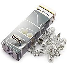 Jurmann Trade GmbH® 10x pezzi 12V 5W W5W T10, base in vetro lampade alogene auto lampadine Nuovo