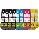 Tintetec E1281-T1284 - Paquete de 10 cartuchos de tinta para Epson Stylus, multicolor [Importado]