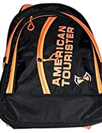 Adyyan Bags For Children In Black And Orange School Bag (Set Of Two Pieces)