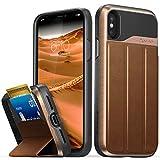 Die besten Vena Wallet Iphone Hüllen - VENA iPhone X Brieftasche Hülle, vCommute Schutzhülle Leder Bewertungen