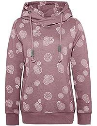 SUBLEVEL Damen Kapuzenpulli mit Allover-Pusteblumen-Print | Bequemer Freizeit Sweathoodie
