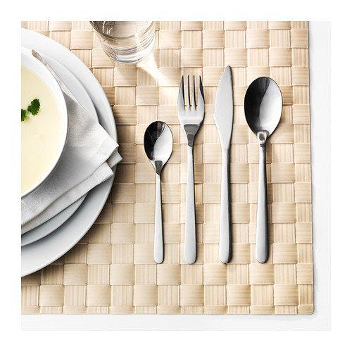 Ikea FÖRNUFT Besteck 24-TLG, Edelstahl, Silver, 22 x 14 x 4 cm, Einheiten