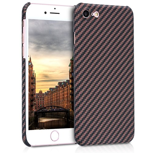 kalibri-Hlle-fr-Apple-iPhone-78-Handy-Schutzhlle-Backcover-Aramid-Cover-Beige-Matt-Schwarz