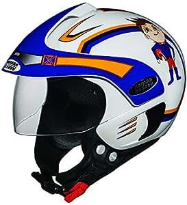 Studds Marshall D1 Open Face Helmet (Boy's, White N1, XS)