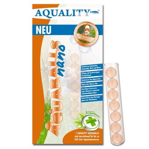 AQUALITY Nano Aquarium AQUABALLS - 7 Balls (GRATIS Lieferung in DE - Mikroorganismen speziell für kleine Wirbellosen Aquarien entwickelt - Reduzieren Ammonium, Ammoniak, Nitrit, Nitrat)
