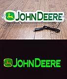 3D 12V LED Leuchtschild für JOHN DEERE Traktor Fahrer Grün Logo Schild Zubehör BELEUCHTUNG NUR VORWÄRTS - stört Sie nicht beim Fahren