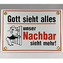"""Fußmatte /""""Gott sieht alles Mein Nachbar noch mehr/"""" Fußabtreter*Türmatte*punk*"""