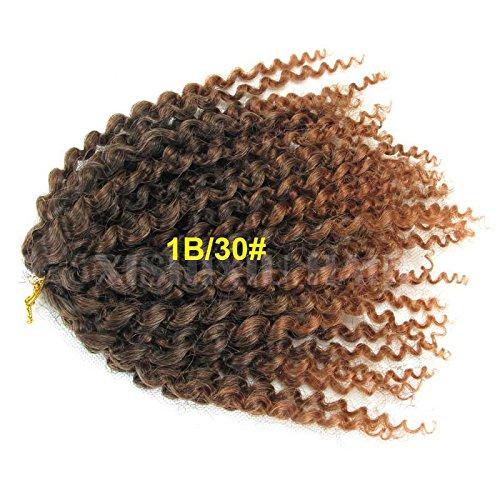 3pcs/set afri naptural jerry kinky curly twist mali bob ombre kanekalon crochet capelli sintetici di prolunga per africana acconciatura
