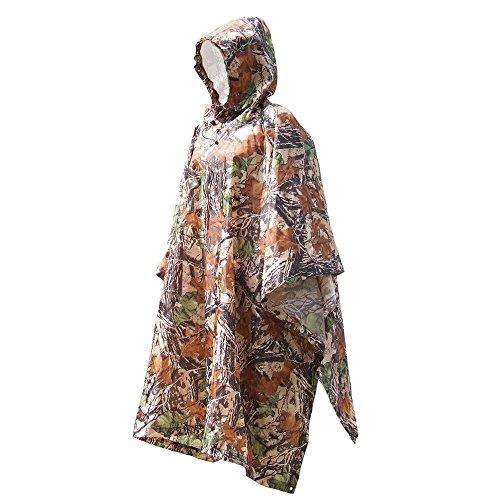 Docooler Herren Camouflage Regenjacken/im Freien Multifunktions Camouflage Rain Poncho für die Jagd Camping