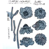 Stampers Anonymous_AGW Cling Flower Garden Mounted Stamp