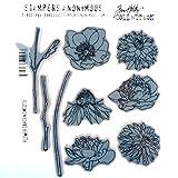 Best Tim - Tim Holtz Cling Rubber Stamp Set/Flower Garden 7