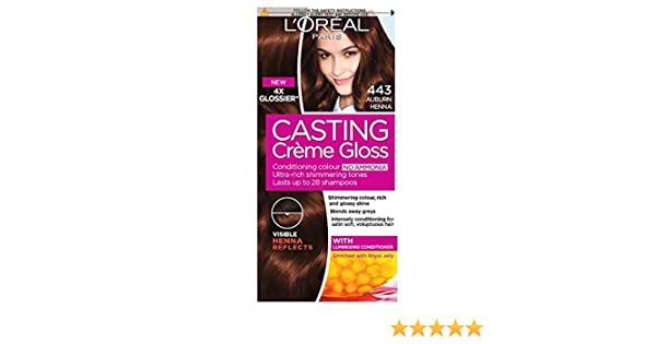 L Oreal Casting Creme Gloss Auburn Henna 443 Amazon Co Uk Health