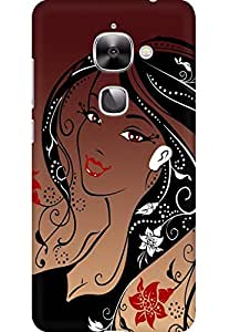 AMEZ designer printed 3d premium high quality back case cover for LeEco Le2 (Girl face hair)
