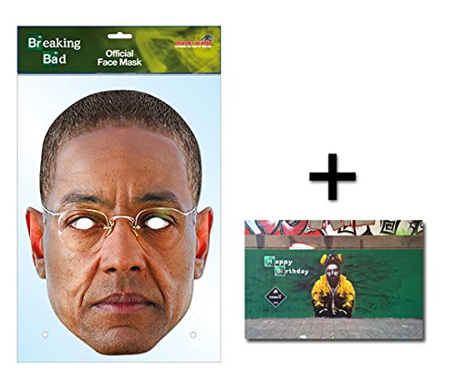Bad Kostüm Breaking Kind (Gus Fring Breaking Bad Official Breaking Bad Single Karte Partei Gesichtsmasken (Maske) Enthält 6X4 (15X10Cm))