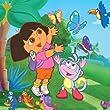 4er Leinwand Set fürs Kinderzimmer 25x25 cm - Disneys Dora