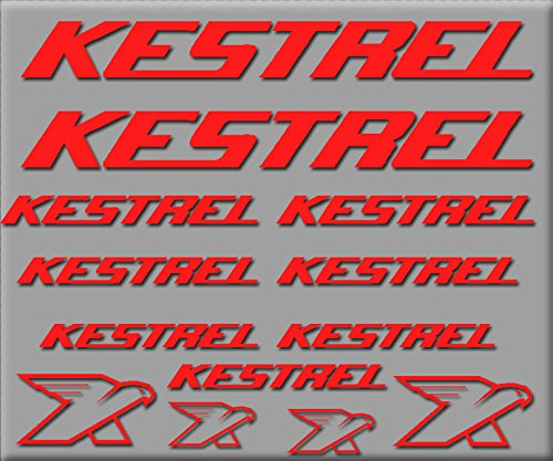 Ecoshirt 48-WXDA-XN7G Aufkleber Kestrel R226 Vinyl Adesivi Decal Aufkleber públicpúblicŸŸ MTB Stickers Bike, rot (Kestrel Bike)