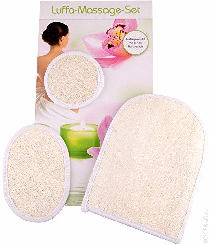 3 x Luffahandschuhe Luffa Schwamm Massagehandschuh Wellness Peeling Handschuh