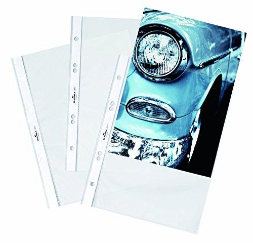 Durable Hunke & Jochheim Prospekthülle, oben, DIN A5, PP, glänzend, 0,8 mm, glasklar (100 Stück)