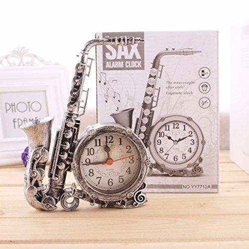 Home & Style Retro-Saxophon Weckzeit Wecker elektronische Uhr