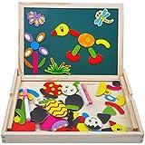 Magnetisches Holzpuzzles Puzzles Zeichnung Holzbrett Spielzeug Lernspielzeug Staffelei Doodle Lernspiel Spiel für Kinder