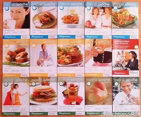 14x Weight Watchers ProPoints™ Broschüren 'Meine Woche' + BONUS