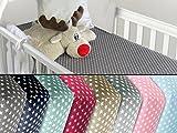 Baumwoll-Spannbetttuch für Kinder - kindgerechtes Design mit Sternen im Alloverdesign