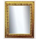 Online Galerie Bingold Spiegel Wandspiegel Badspiegel Flurspiegel Garderobenspiegel - Über 200 Größen - Rom Gold 6,5 - Außenmaß des Spiegels 50 x 100 - Wunschmaße auf Anfrage - Antik, Barock