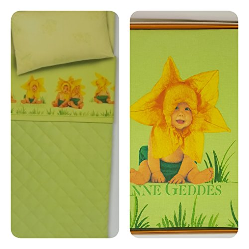 Anna Geddes Lenzuola Culla.Anne Geddes Set Bed 1 Place Top Sheet And Pillowcase 100 Cotton
