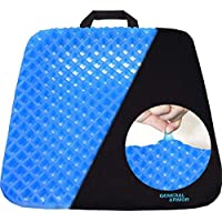 GENERAL ARMOR Gel Seat Cushion, Cool and Ventilated, Non-Slip, Seat Cushion, Relieves Sciatica and Coccyx Pain