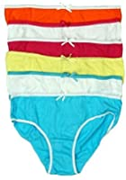 Mädchen 6er Pack Einfache Baumwolle Leuchtend Unterhose Schlüpfer Unterwäsche Slip von 2 bis 13 Jahre