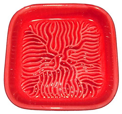 Ceramico Reibe (Rot) handwerklich gefertigte Keramik Reibe aus Finnland geeignet zum Reiben jedes essbaren Produktes wie Muskatnuss, Parmesan, Ingwer, Knoblauch und andere -