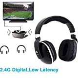 Headphones for TV Digital Wireless Over-Ear Artiste 2.4GHz UHF/RF for TV Listening,Rechargeable 20