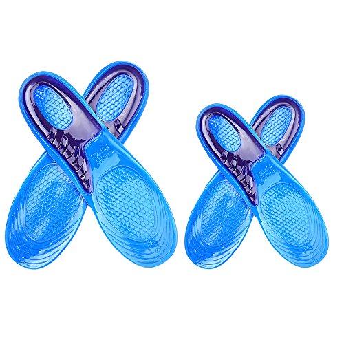 Vococal® 1 Paire Silicone Chaussures Taille Cuttable Semelles Inserts Shock Absorption Souple Résistant à L'Usure Courbes Sports Semelles Intérieures de Chaussures US 8-12