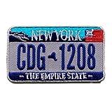 New York Autokennzeichen USA US NY Bundesstaaten Patch Aufnäher Aufbügler 0606