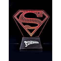 DC Comics–Acrylic de Light Lámpara Superman–Logo–18cm