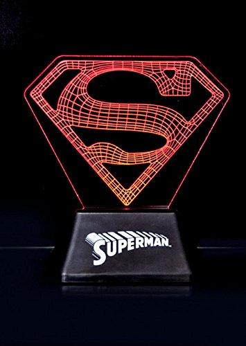 DC Comics - Acrylic-Light Lampe - Superman - Logo - 18cm (Quinn Licht 4)